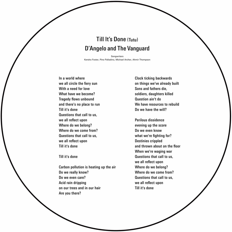 ティル・イッツ・ダン(Tutu)ディアンジェロ&ザ・ヴァンガード:AT4050ST