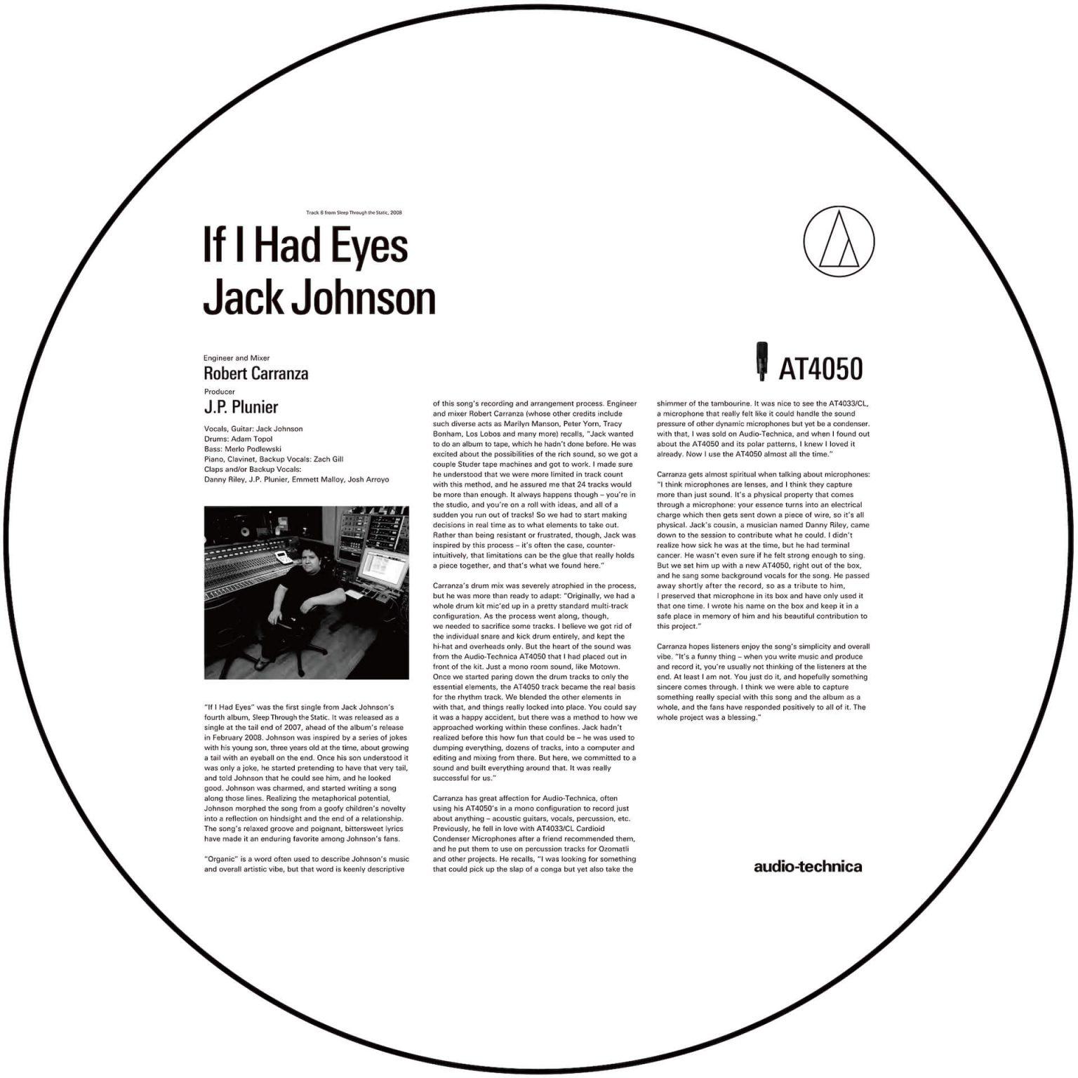 """失った恋と内省を綴るジャック・ジョンソンの名曲""""If I Had Eyes""""。直感に反するレコーディングで目覚めた音作り"""
