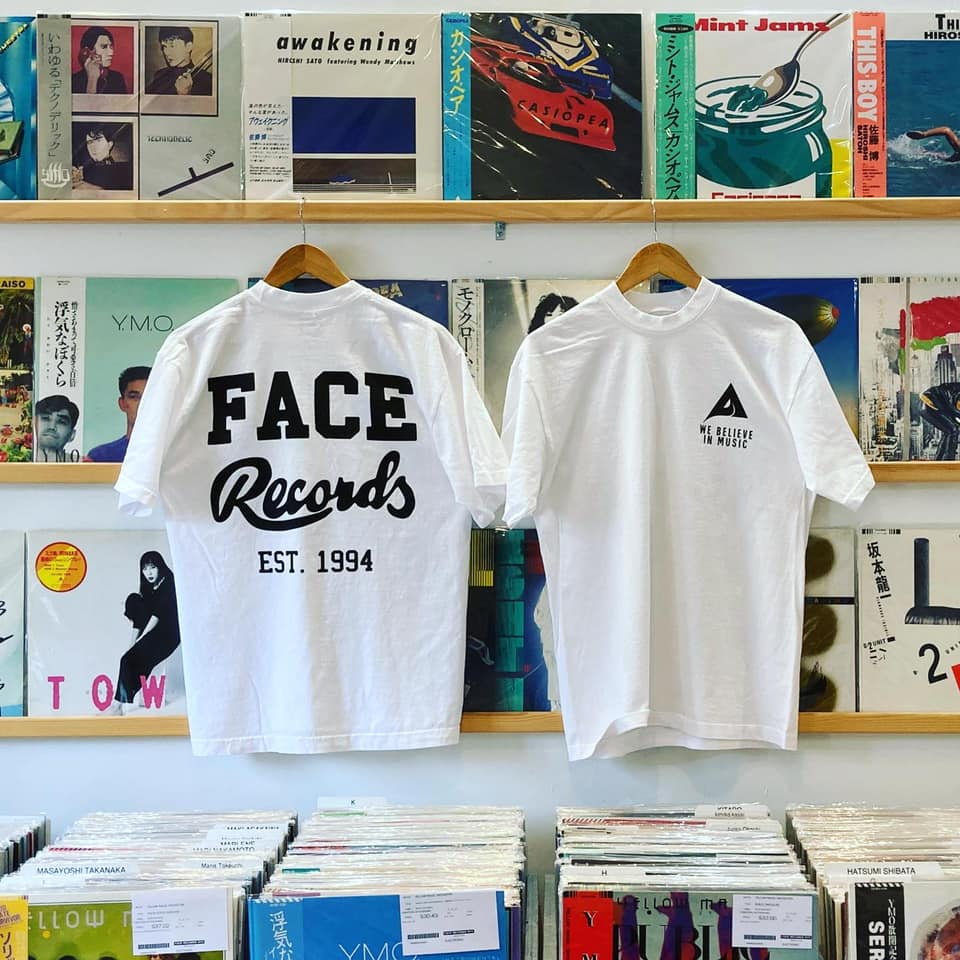 MUSIC × FACE RECORDS NYC T-SHIRTS