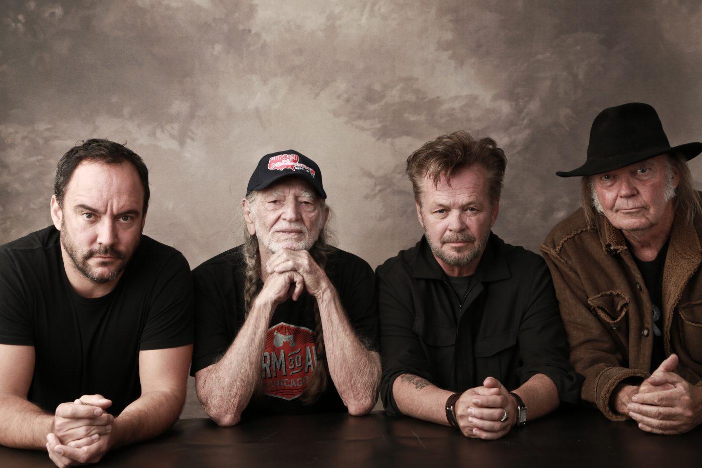 Dave Matthews(デイヴ・マシューズ)、Willie Nelson(ウィリー・ネルソン)、John Mellencamp(ジョン・メレンキャンプ)、Neil     Young(ニール・ヤング)