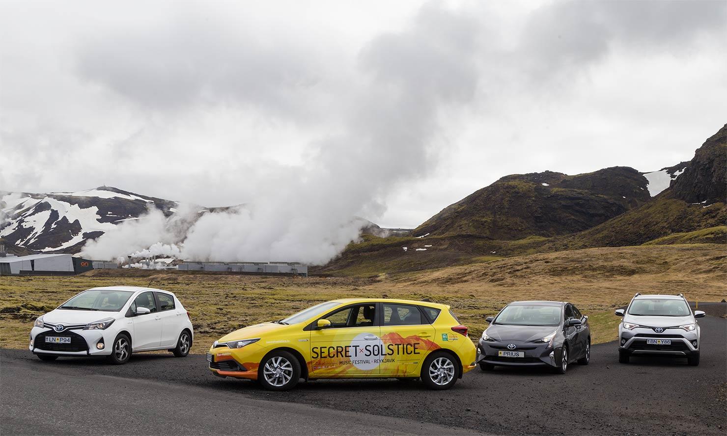 レイキャヴィークから30キロメートルのところで、いま現在、火山が噴火しています